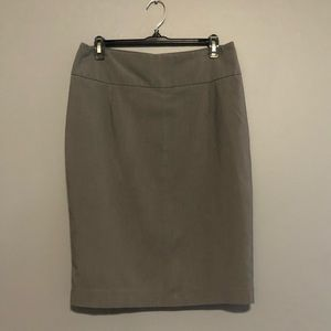 Mossimo stretch gray pinstripe pencil skirt